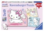 Puzzle Hello Kitty, 3X49 Piese