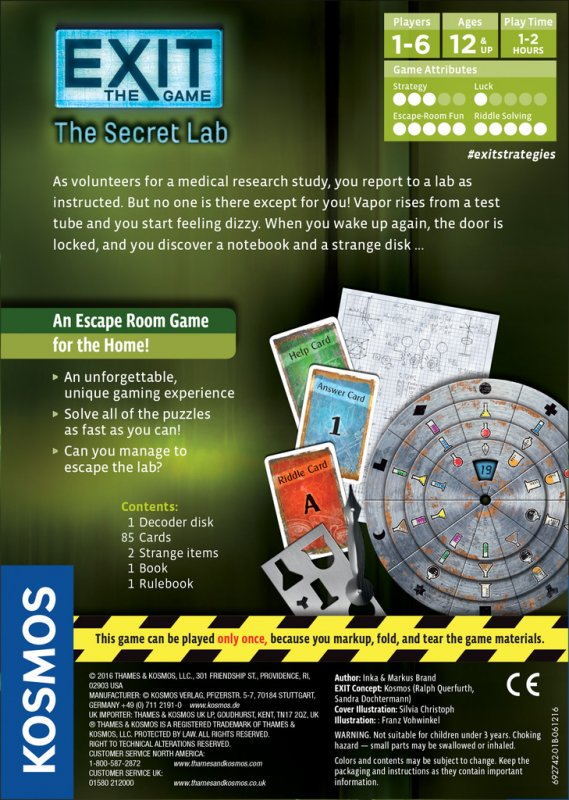 EXIT: The Game – The Secret Lab - Click pe Imagine pentru a Inchide