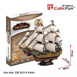 Puzzle 3D Corabia HMS Victory, 189 piese