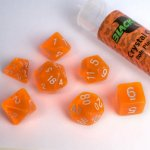 16mm Role Playing Dice Set - Crystal Orange (7 Dice)