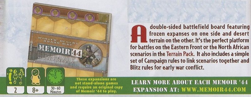 Memoir '44: Winter/Desert Board Map - Click pe Imagine pentru a Inchide