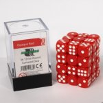 Dice Cube - 12mm D6 36 Dice Set - Opaque Red