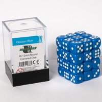 Dice Cube - 12mm D6 36 Dice Set - Opaque Blue