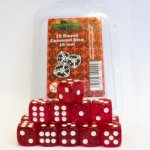 Dice 16 mm Glitter Red