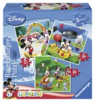 Puzzle Clubul Mickey Mouse, 3 buc 25/36/49 Piese