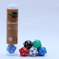 20mm Assorted D20 Dice (5 Dice)