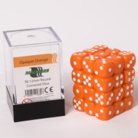 Dice Cube - 12mm D6 36 Dice Set - Opaque Orange