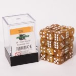 Dice Cube - 12mm D6 36 Dice Set - Marbled Gold