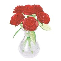 Crystal Puzzle: Red Roses