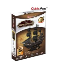 Puzzle 3D Corabia The Queen Anne's Revenge, 155 piese