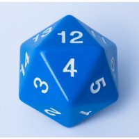 D20 Countdown Die 55 mm - Blue