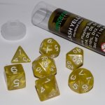16mm Role Playing Dice Set - Flash Yellown (7 Dice)