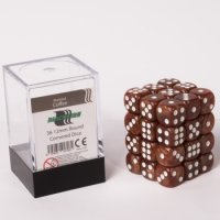 Dice Cube - 12mm D6 36 Dice Set - Marbled Coffee