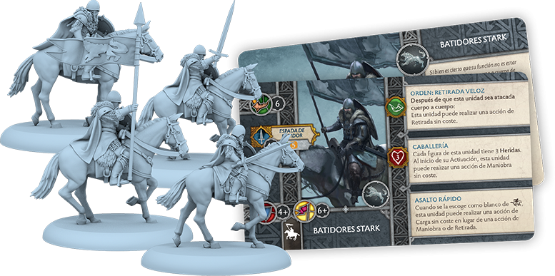A Song of Ice & Fire: Miniatures Game: Stark Outriders