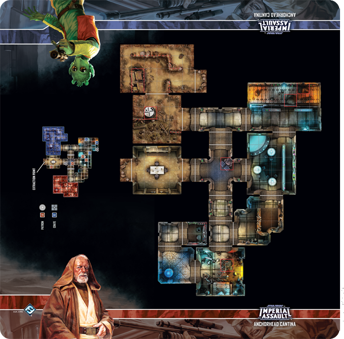 Star Wars: Imperial Assault – Anchorhead Cantina Skirmish Map