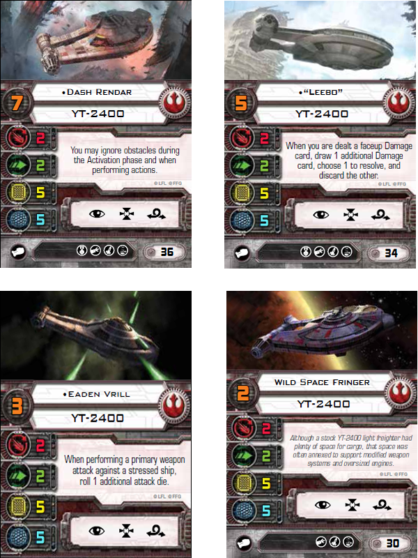 Star Wars: X-Wing Miniatures Game – YT-2400 Expansion Pack