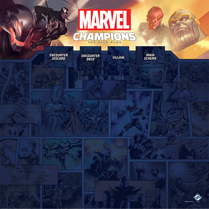 Marvel Champions: The 1-4 Player Game Mat
